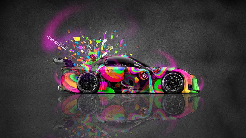 High Quality Mazda RX7 VeilSide JDM Side Abstract Aerography Domo