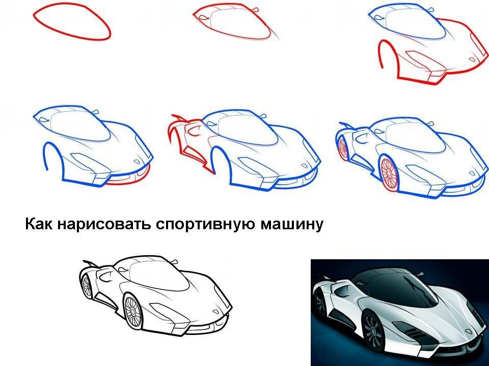 Как нарисовать машину картинку