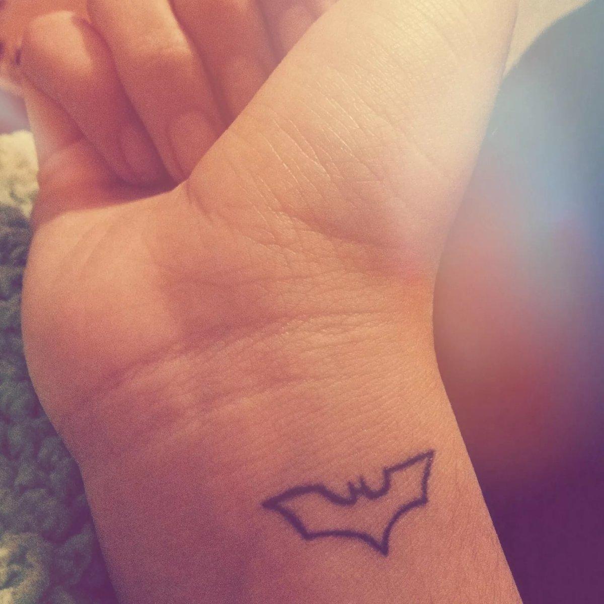 Small Bold Batman Symbol Tattoo Himera444