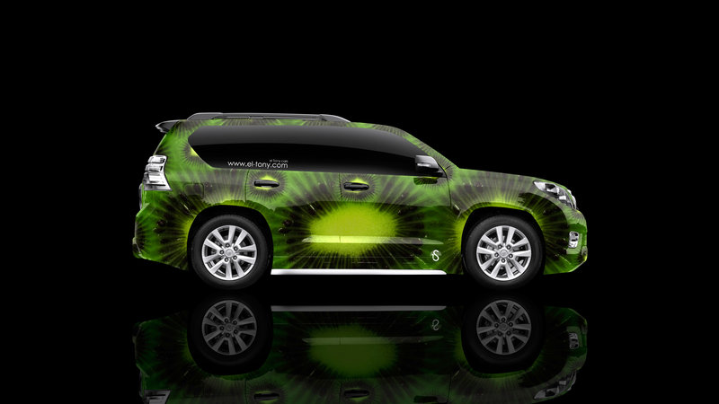 Toyota Land Cruiser Prado Side Kiwi Aerography Car