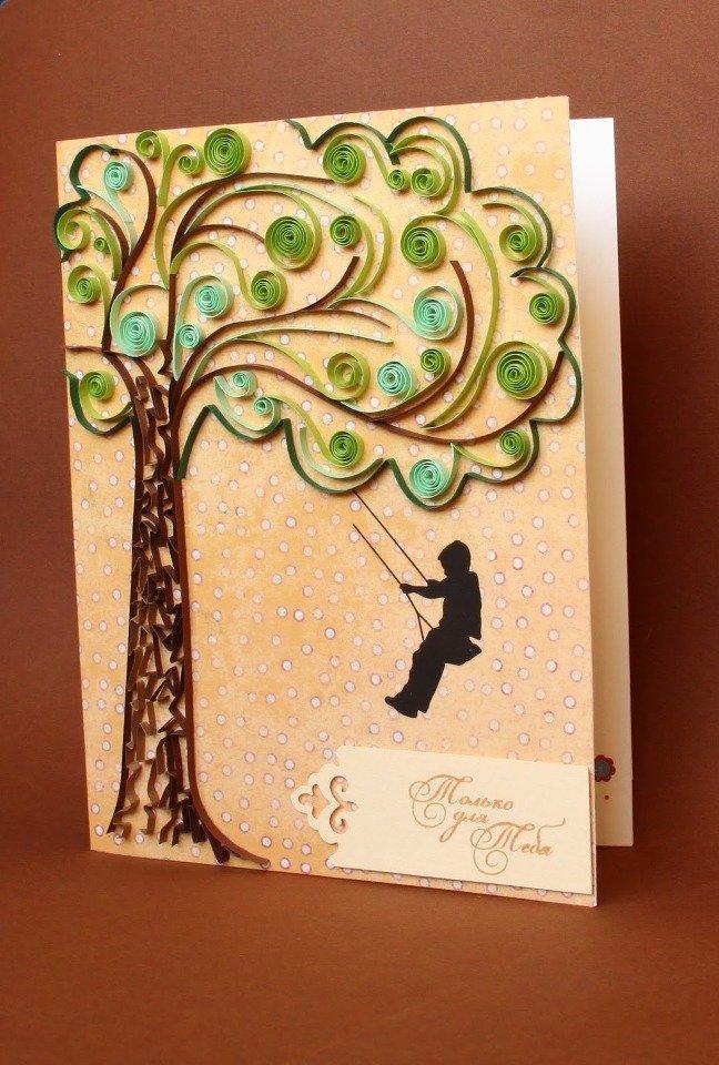 Подручных материалов, квиллинг открытки с днем рождения мужчине