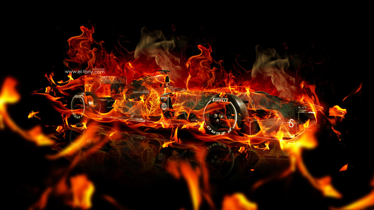 F1 Formula 1 Super Fire Abstract Car 2015