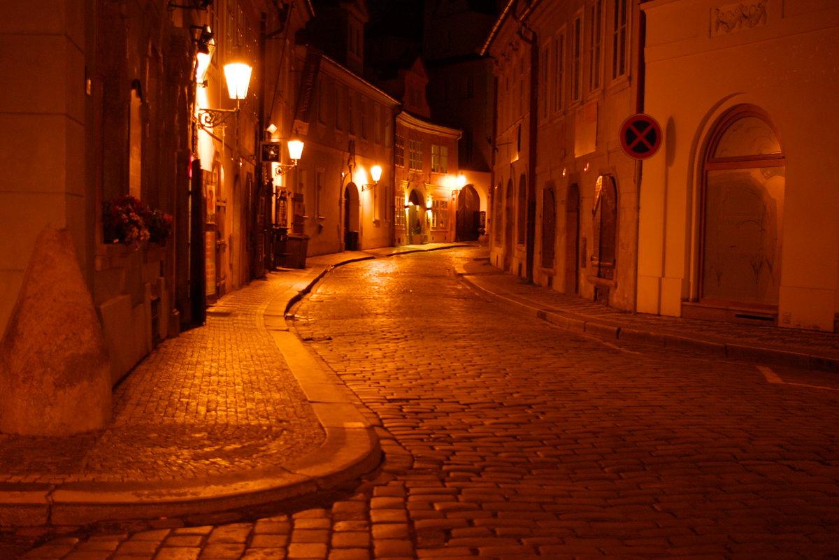 Картинки вечер улица фонари