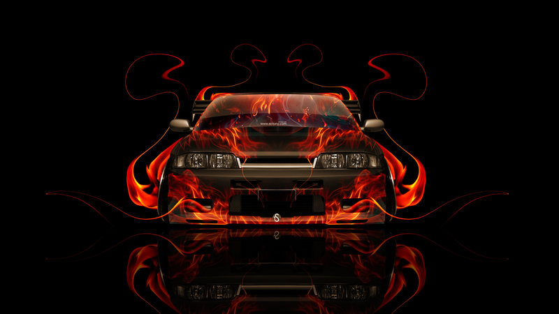 Wonderful Nissan Skyline GTR R33 JDM Front Fire Abstract