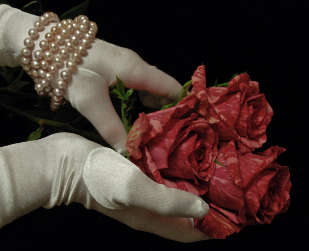 редактор фото розы в руке прямо вижу