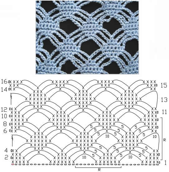 Сетка крючком со схемами и описанием фото 818