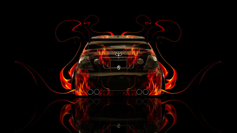 Toyota Altezza JDM Back Fire Abstract Car 2014