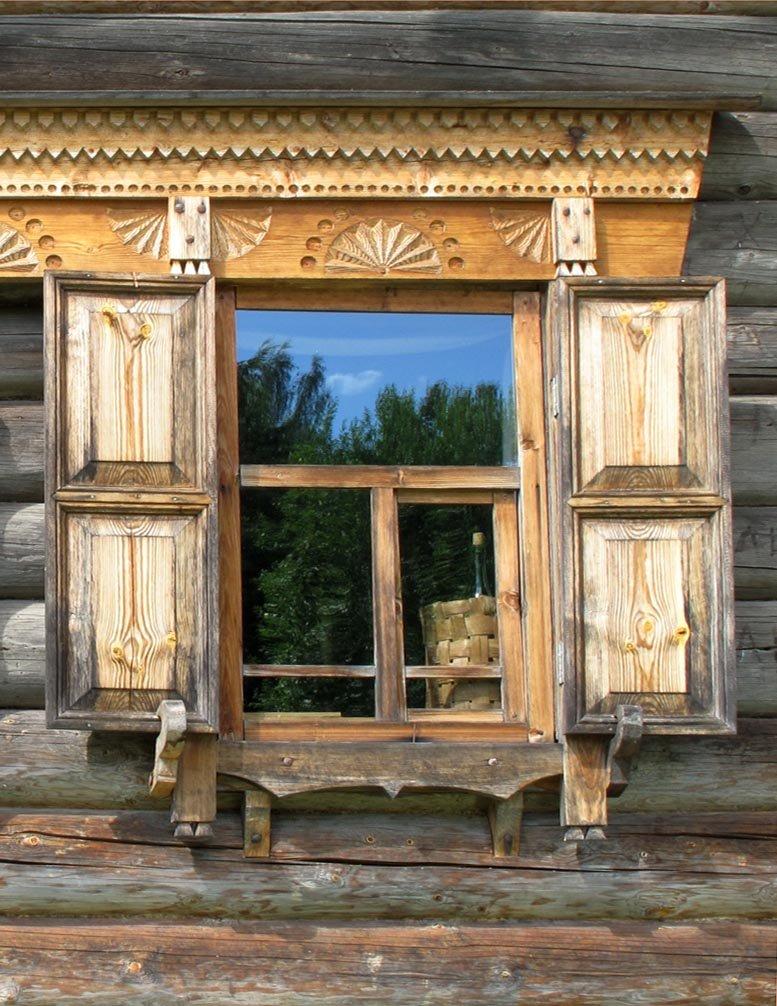 Деревянные ставни на окна картинки