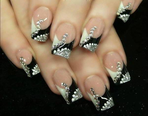 рисунки на ногтях фото с френчем