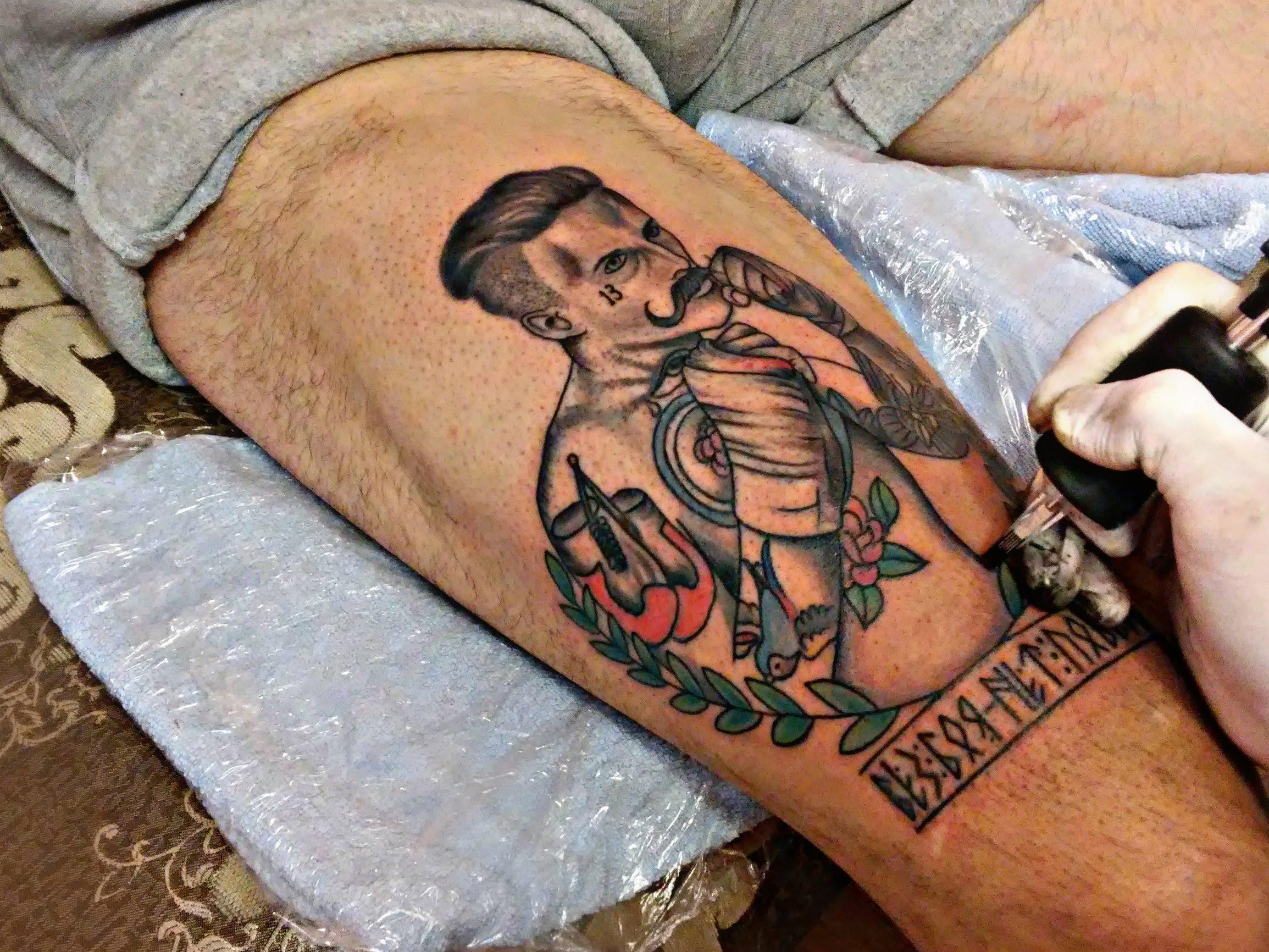 Тату боксерские перчатки - значение тату боксерских перчаток, эскизы и фото 51
