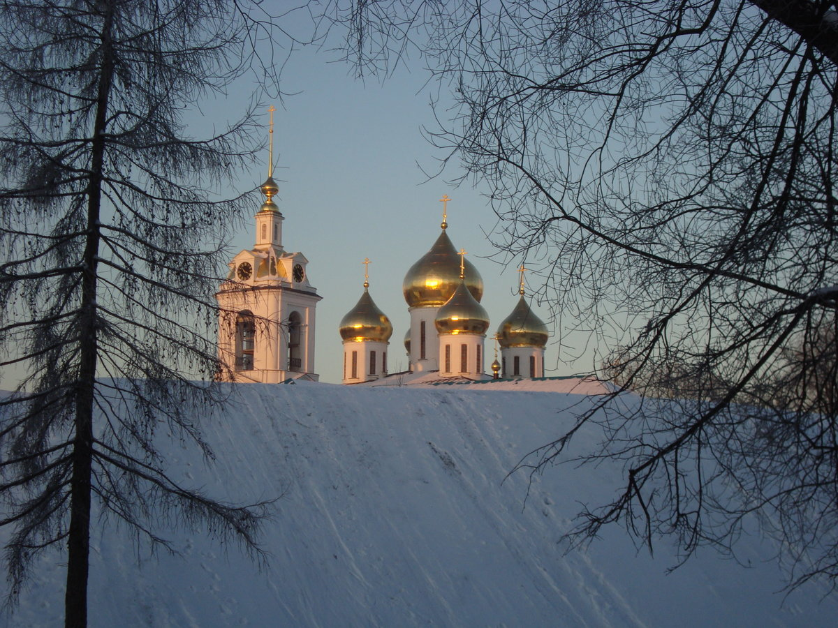 фотографии ночного зимнего дмитрова трендовыми
