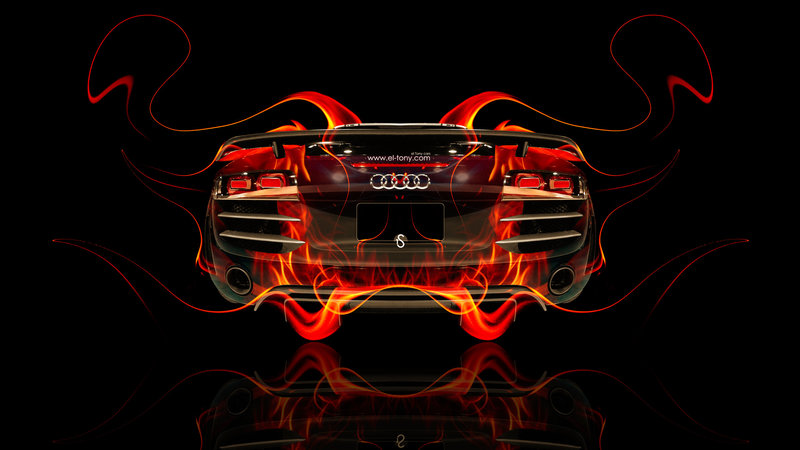 Audi R8 BackUp Fire Abstract Car 2014 HD