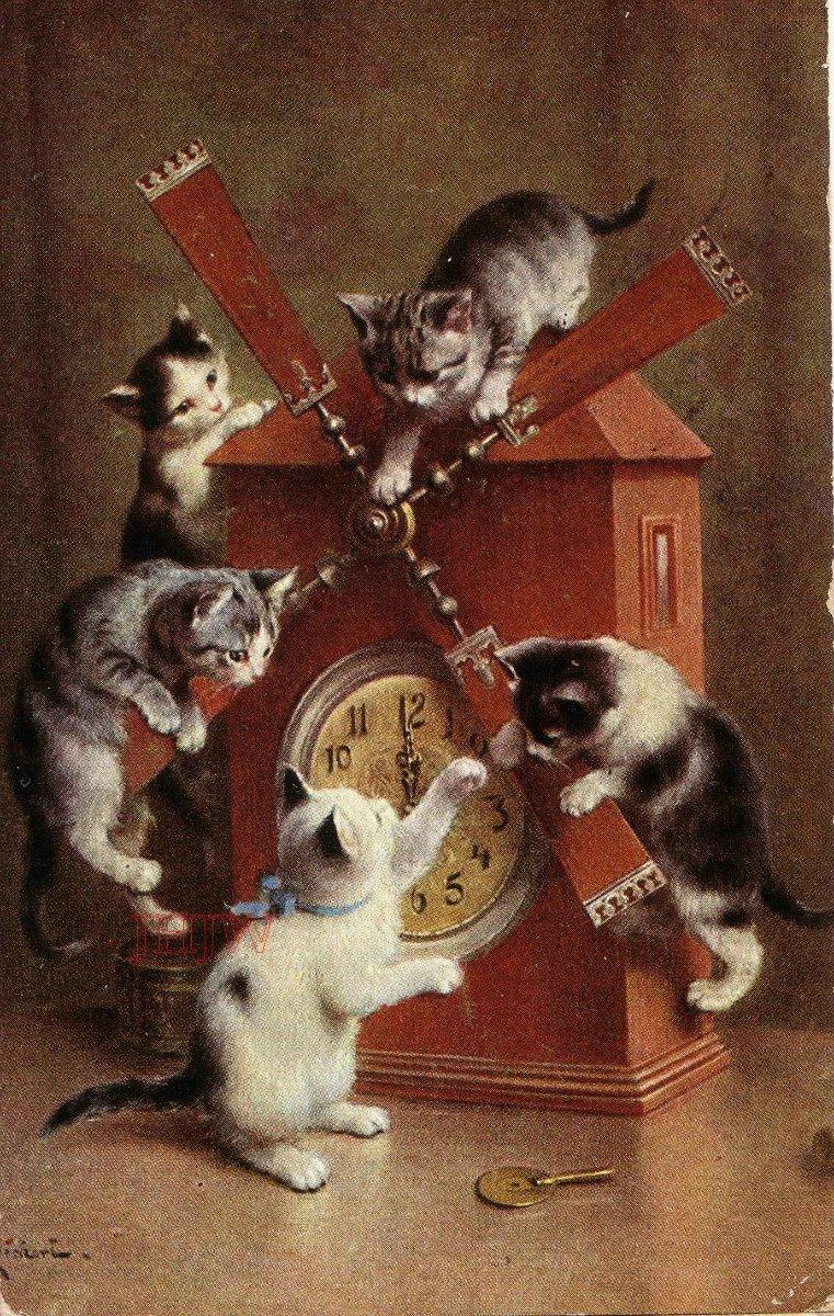 кошки ретро картинки уволить работника