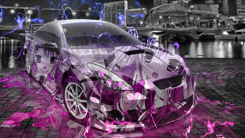 Amazing Toyota Celica JDM Tuning 3D Anime Girl Aerography