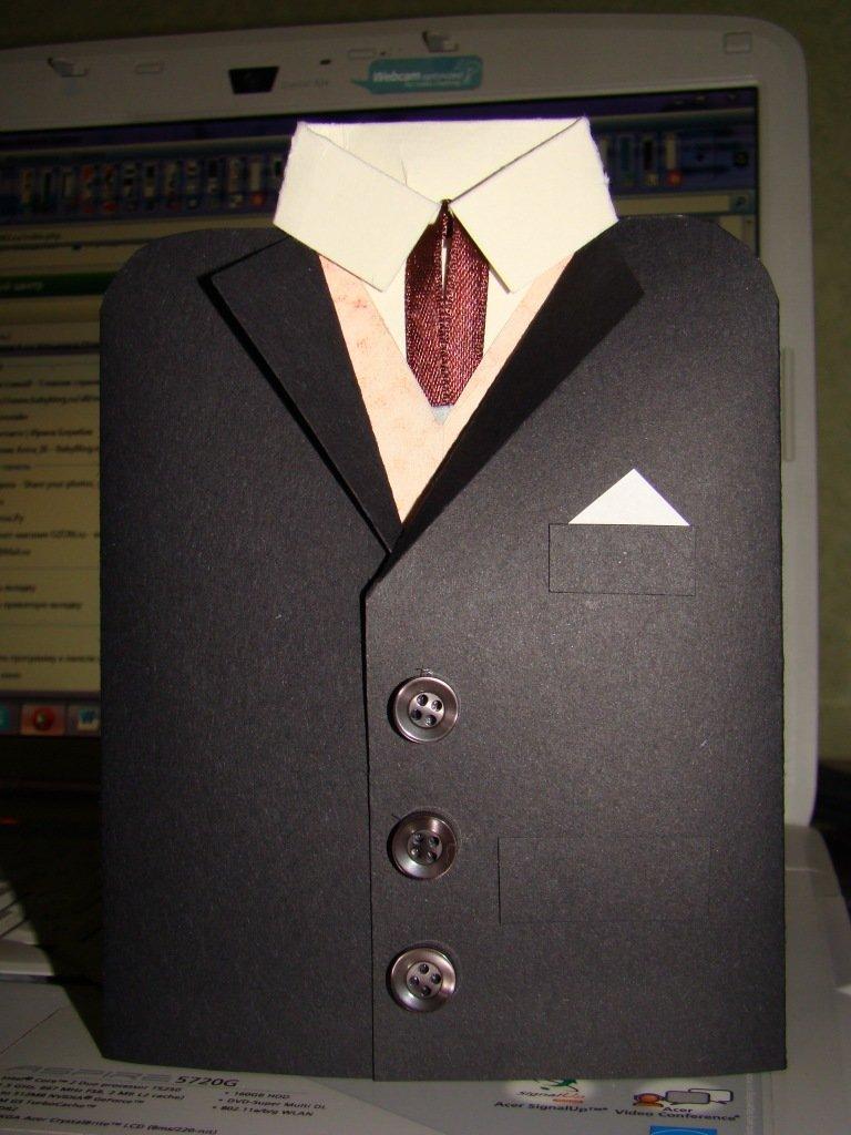 Пленница, мужская открытка с пиджаком