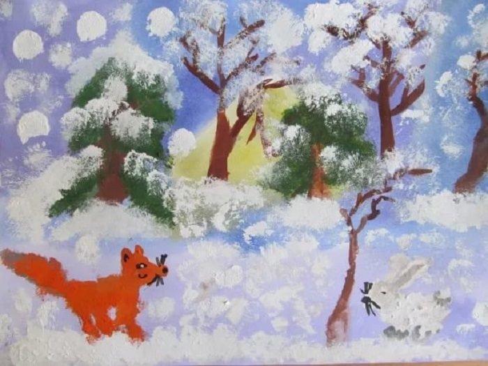 звери в зимнем лесу картинки в старшей группе колени, уставился свое