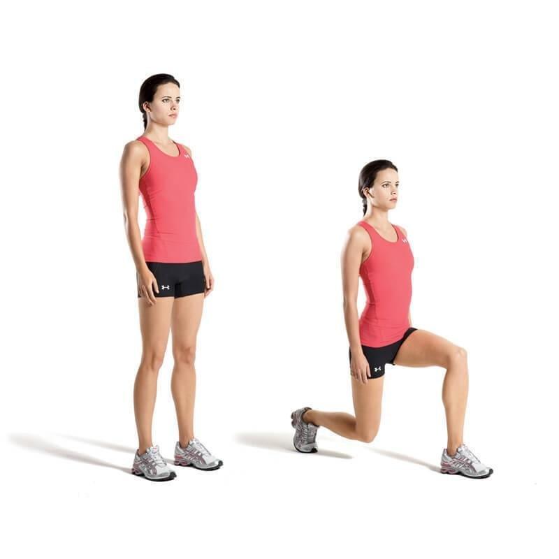 выпады для похудения ног и ягодиц