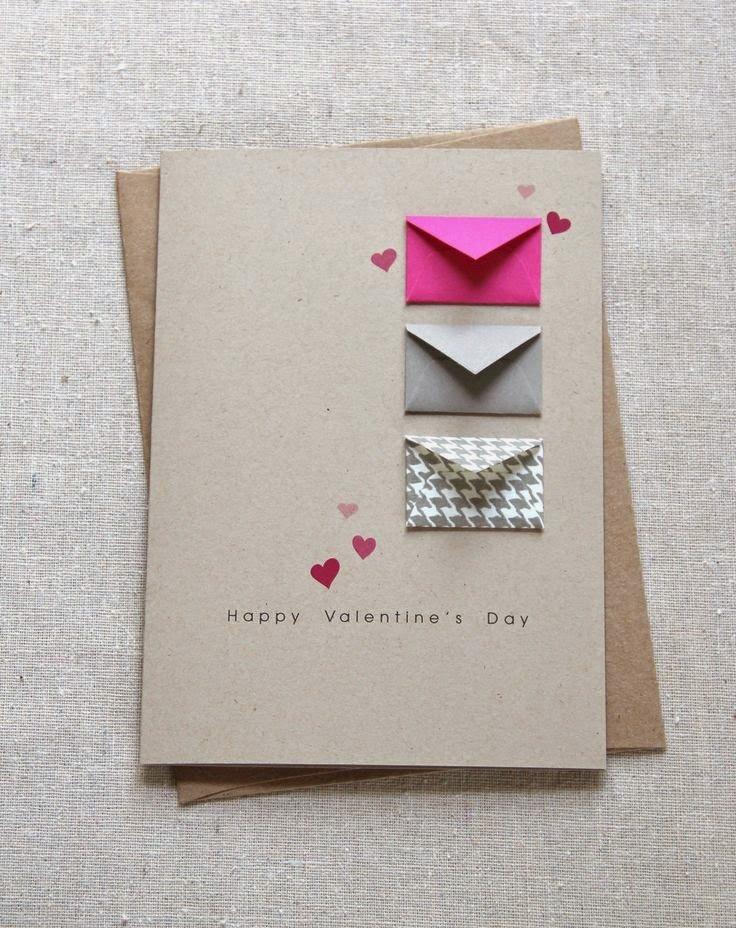Днем рождения, самодельная открытка с конвертами
