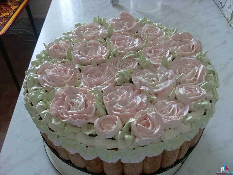 белковый крем цветы украшение торт фото раскрой мягких кож