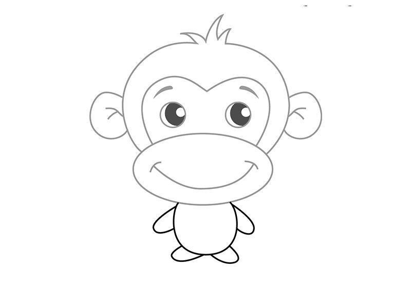 ксении картинки обезьянку как нарисовать вкусно