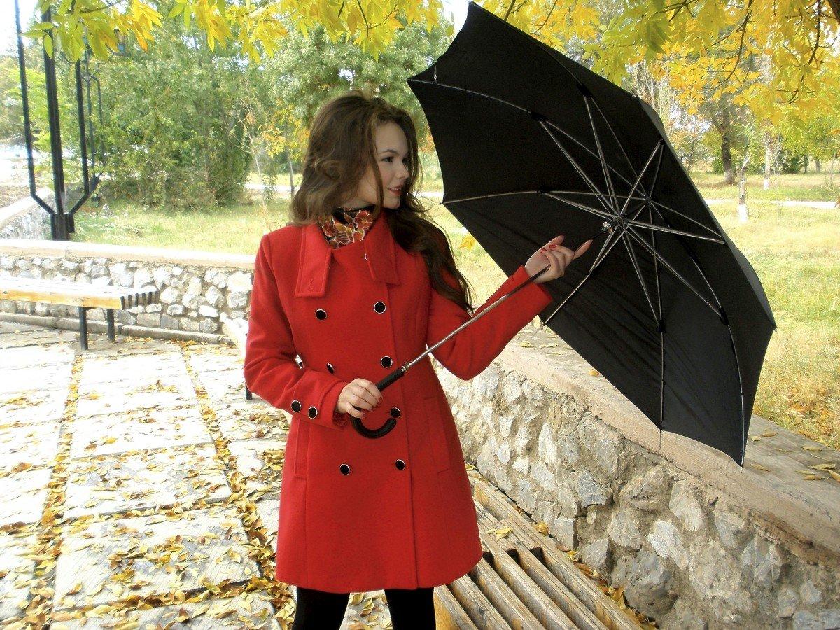 Картинки девушка с зонтиком в осеннем парке, картинки