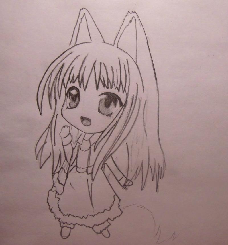 Фото аниме девушек няшек карандашом