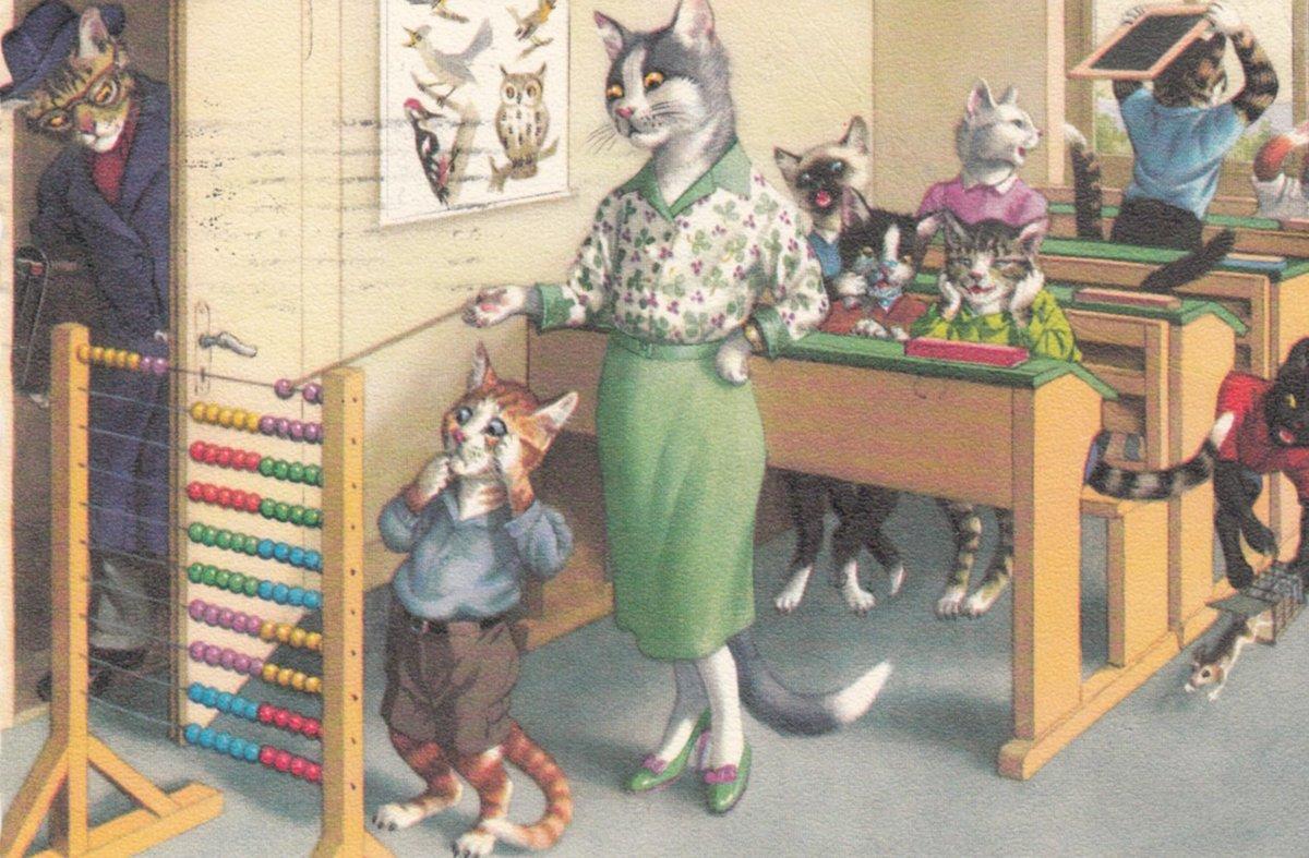 Открытки кошки люди, днем рождения