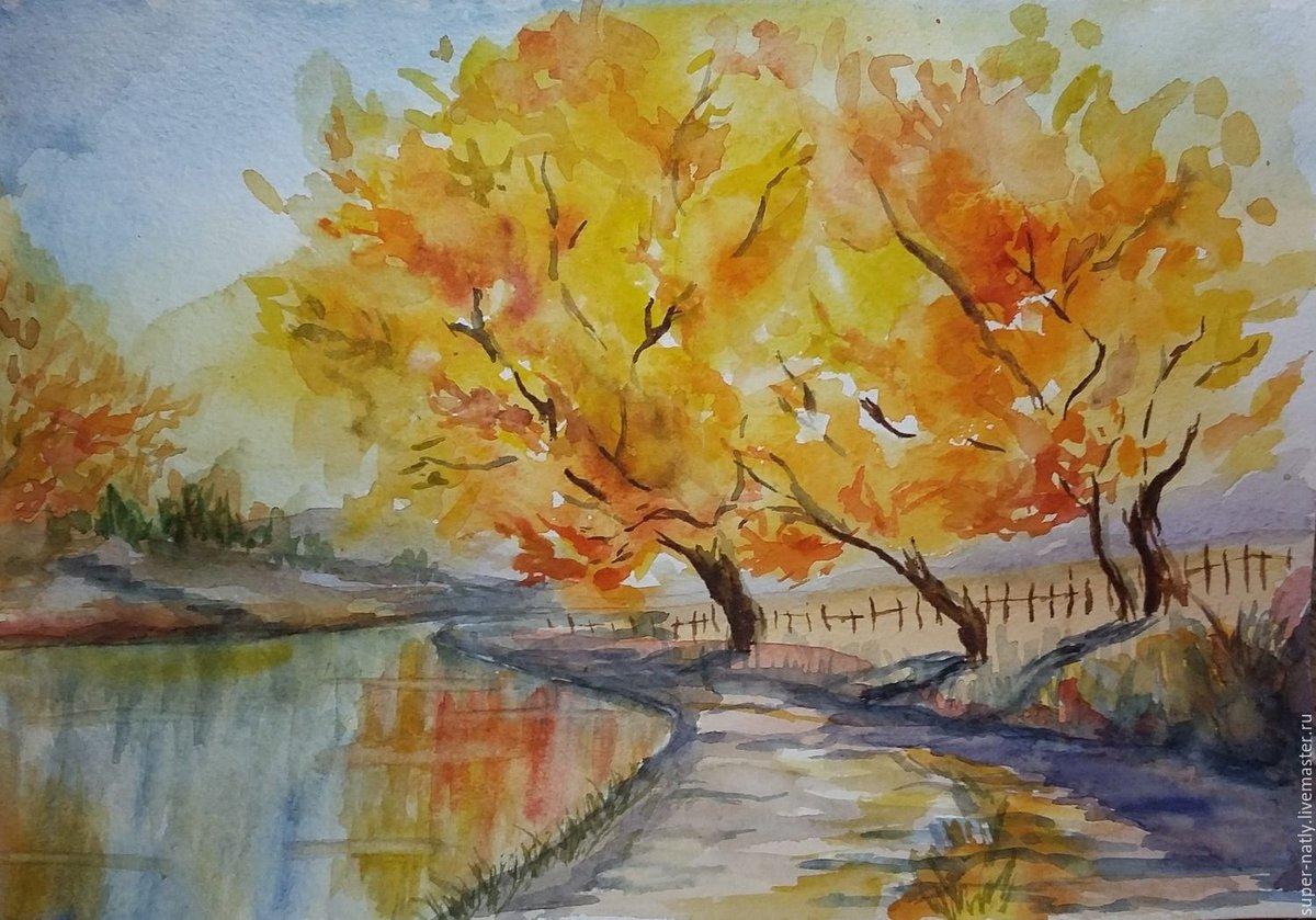 рисунки осень для начинающих можно томить