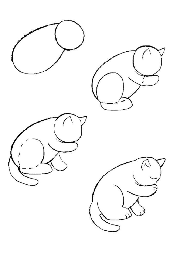 Как нарисовать картинки с котом