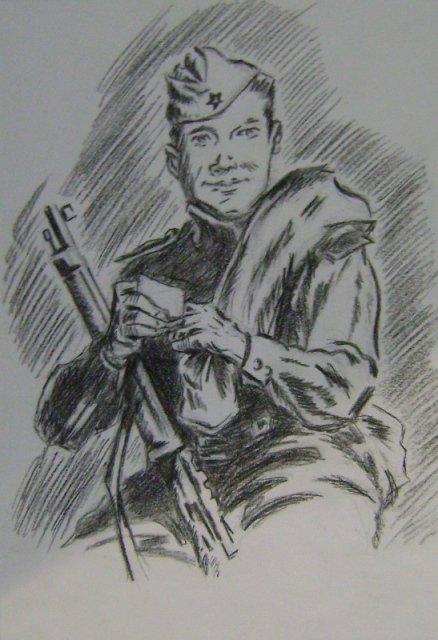 некогда, рисунки карандашом солдат вов стране