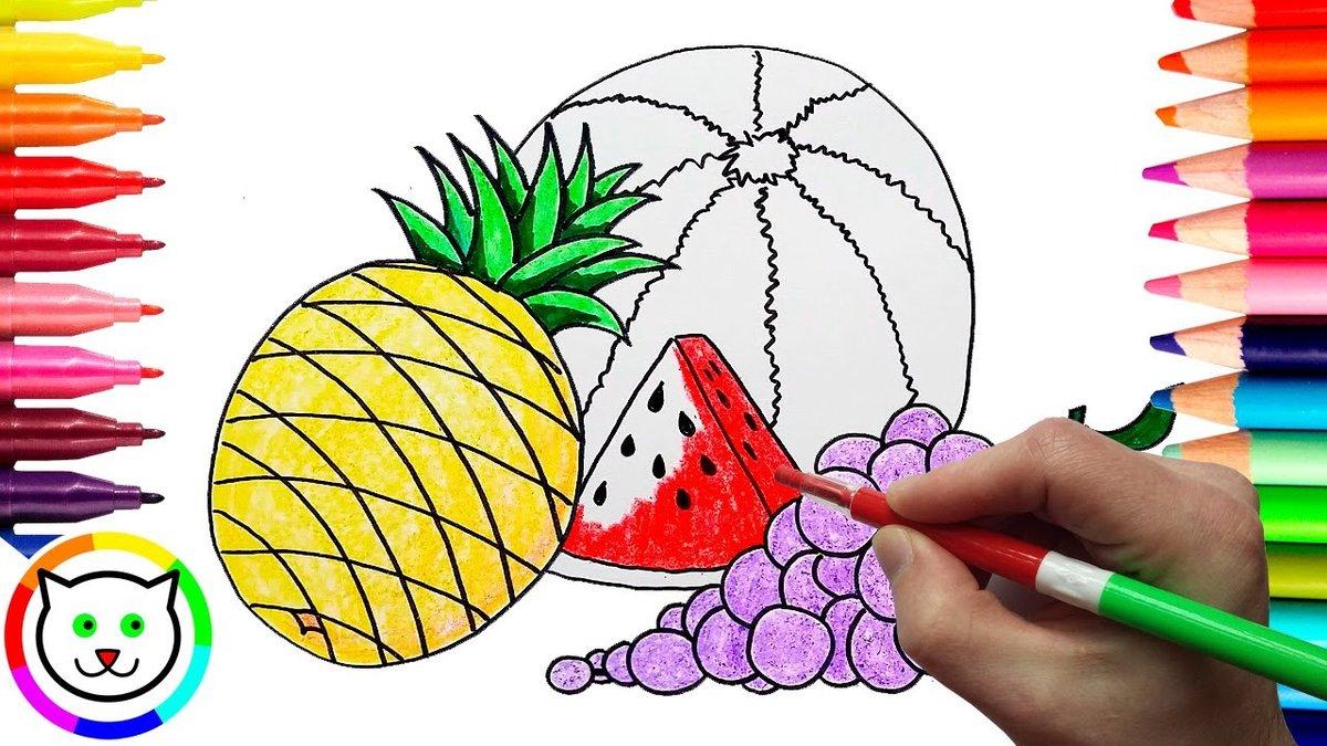 «Картинка арбуз для детей раскраска - Фотогалерея ...
