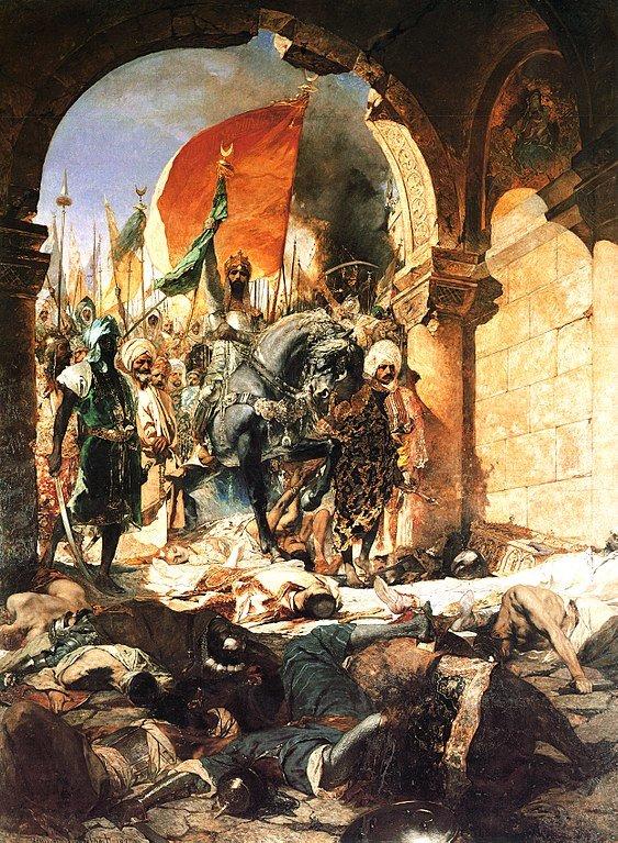 29 мая 1453 года столица Византийской империи Константинополь пал под ударами турков и был переименован в Стамбул