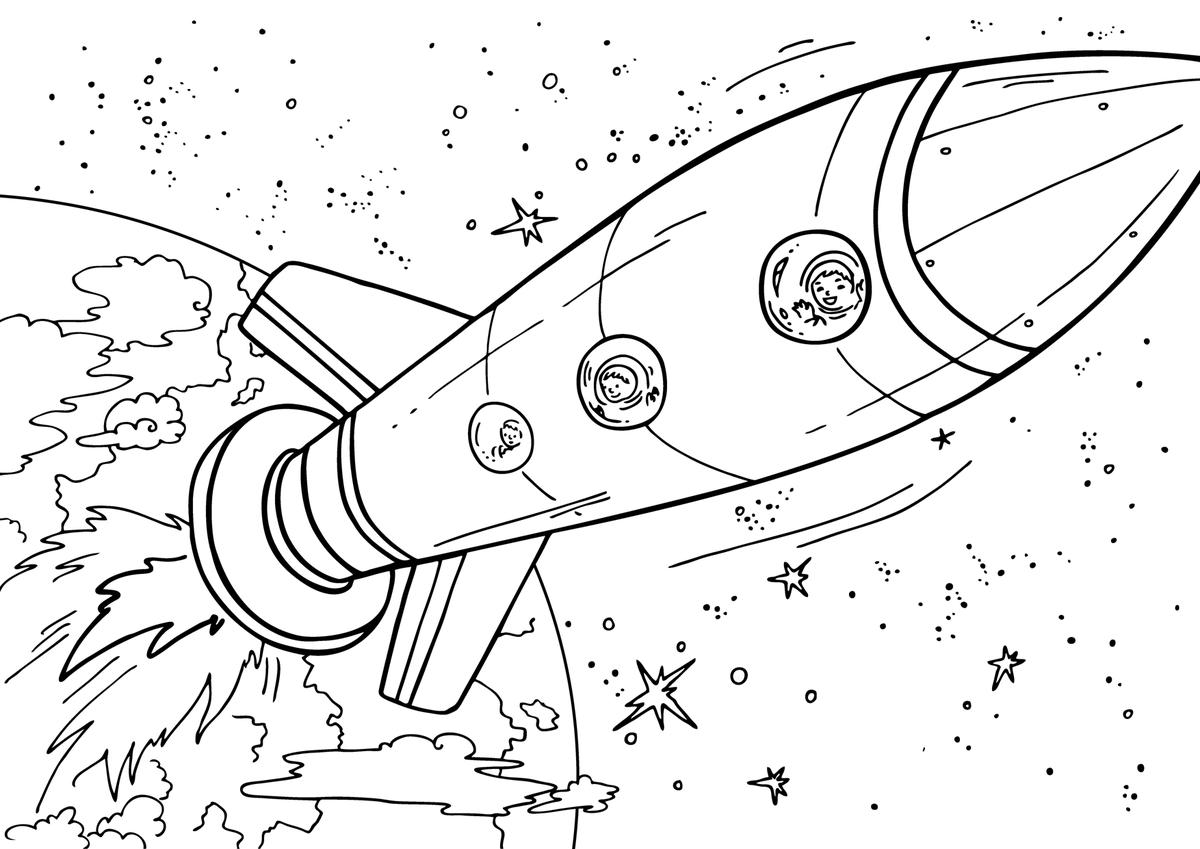 как рисовать космические корабли
