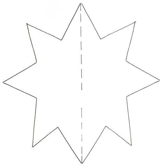 Шаблоны звезды для открыток