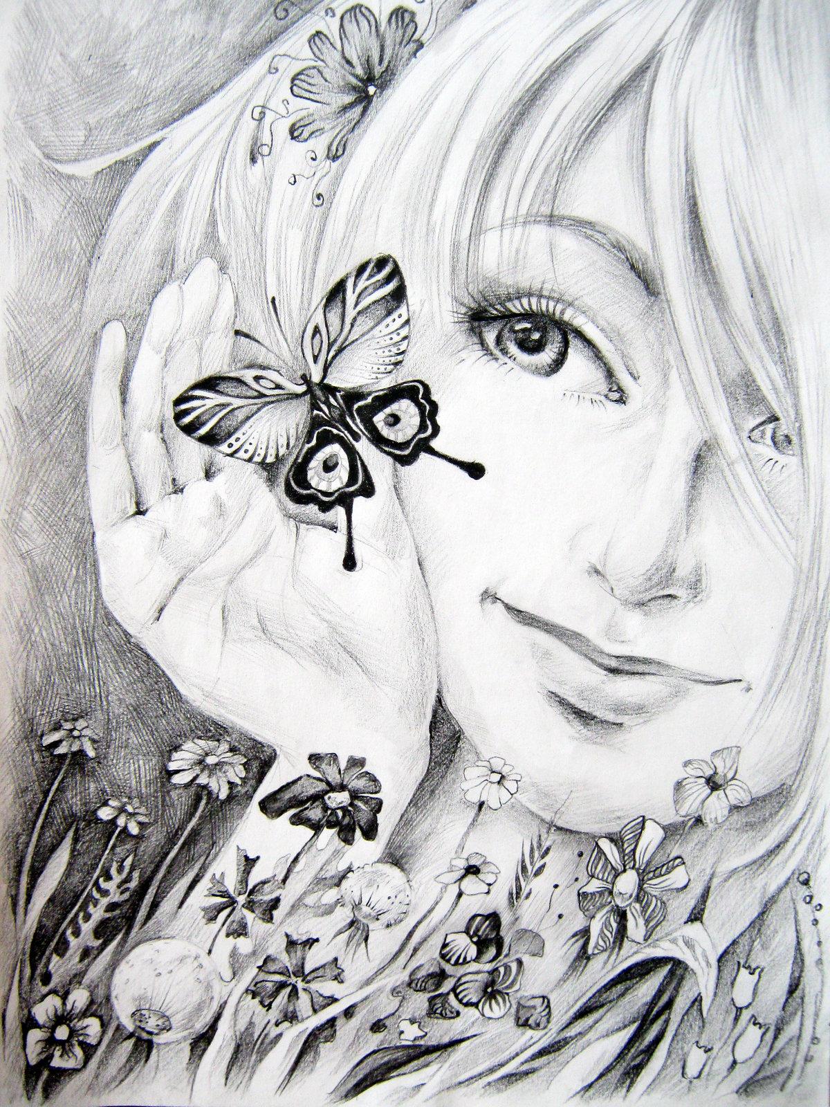 цветы фэнтези карандашом картинки дул