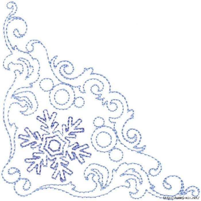 картинки зимних узоров распечатать