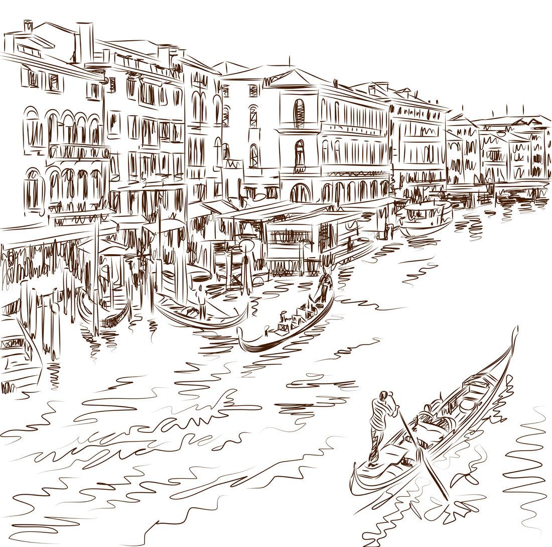 Венеция раскраски картинки