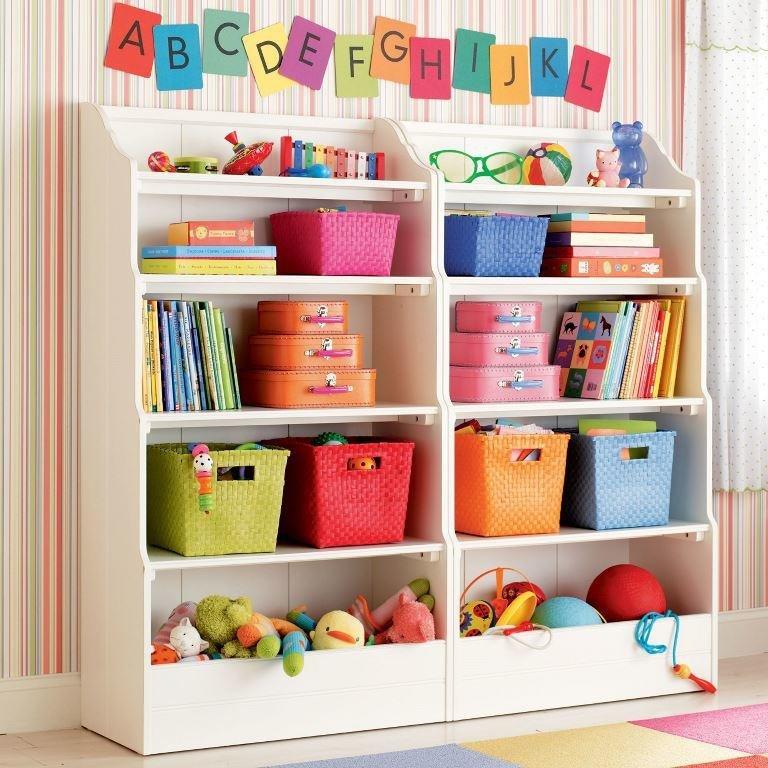 В детской кухне тоже все расфасовано по корзинам.