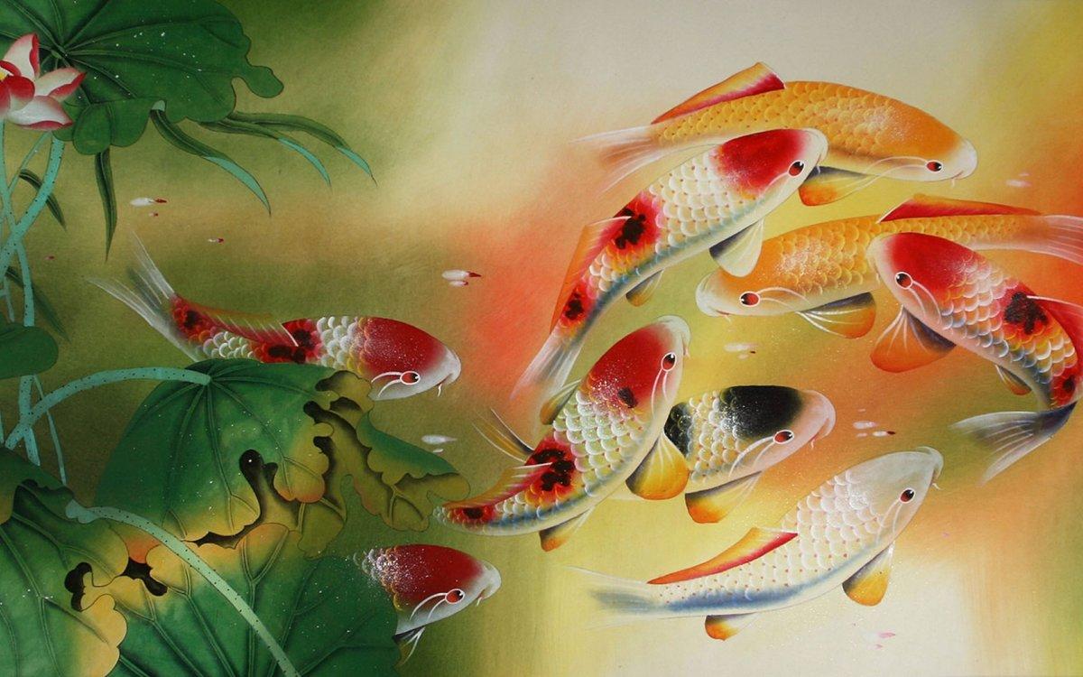 Koi fish and lotus flower chinese painting asian koi fis card koi fish and lotus flower chinese painting asian koi fis izmirmasajfo