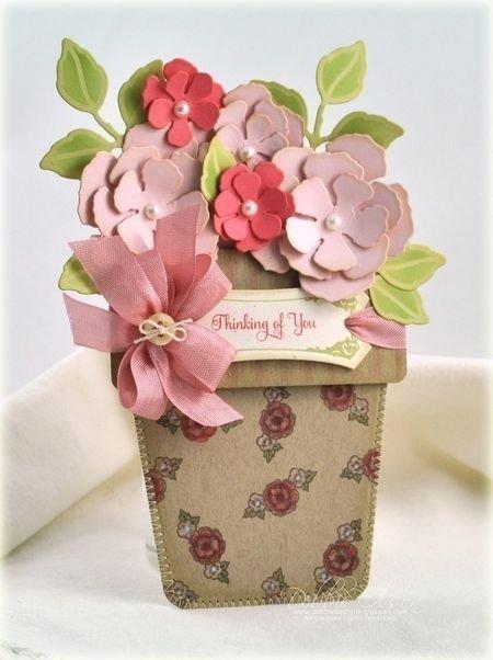 Рождением, открытки в форме цветочного горшка