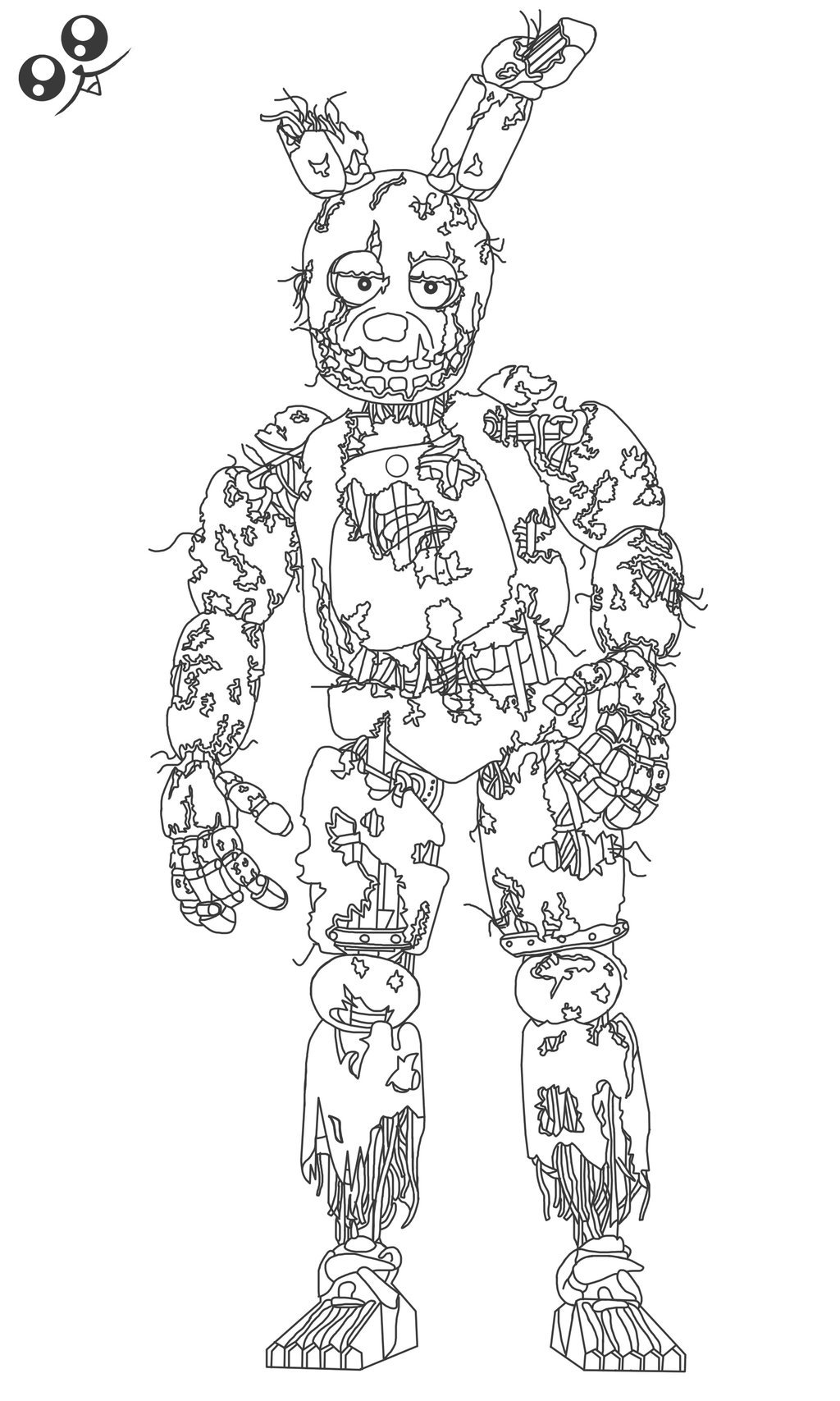 "Fnaf 9 Springtrap Colouring Pages Search Results greencheese"" — card ..."