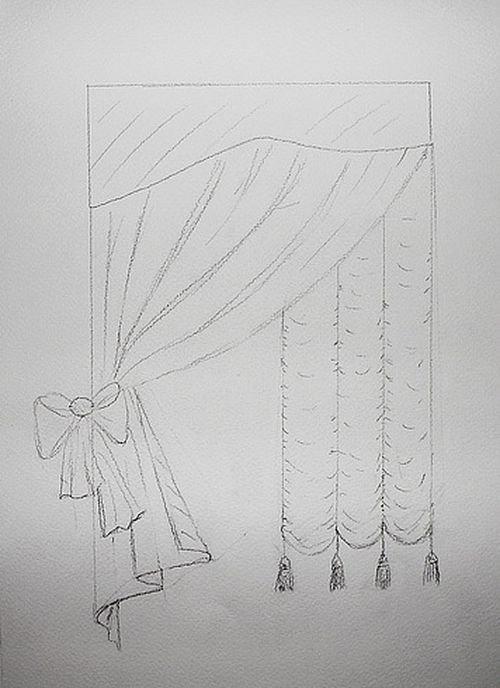 картинка как нарисовать шторы маразм всяко лучше