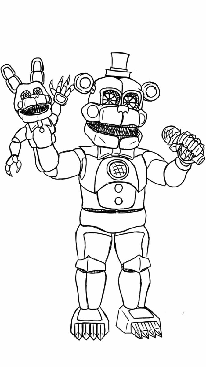 funtime freddy coloring pages Cute F NaF Coloring Pages   Bing images