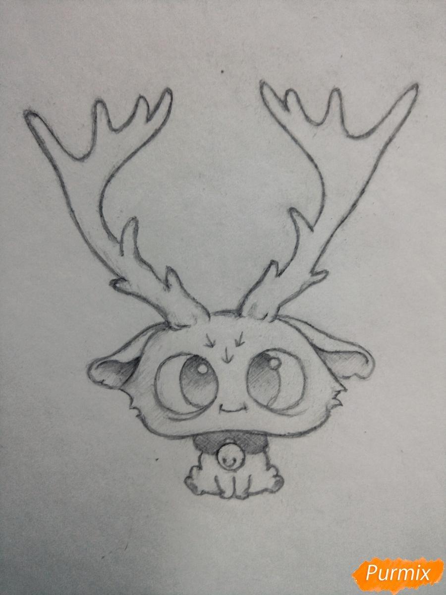 Прикольные картинки оленя для срисовки