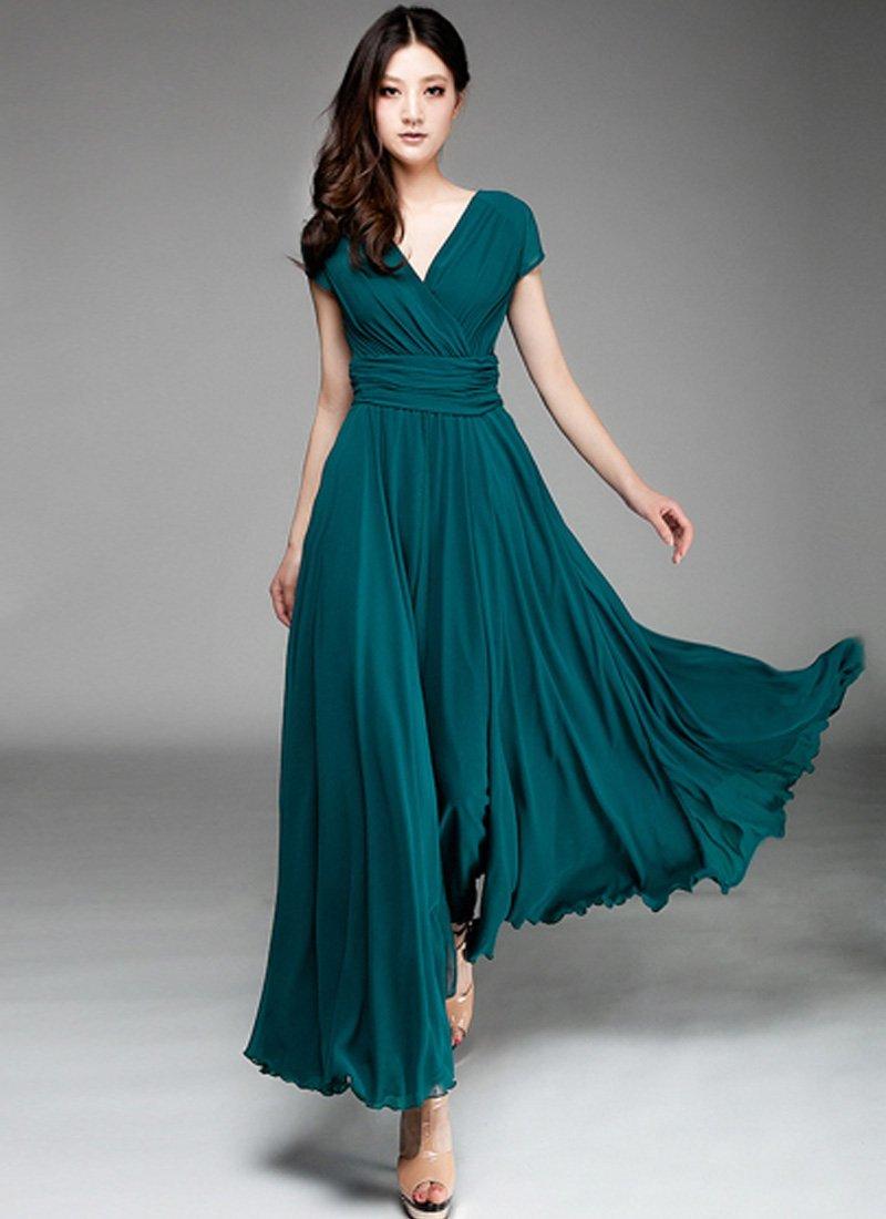 Вечерние платья из шифона в картинках