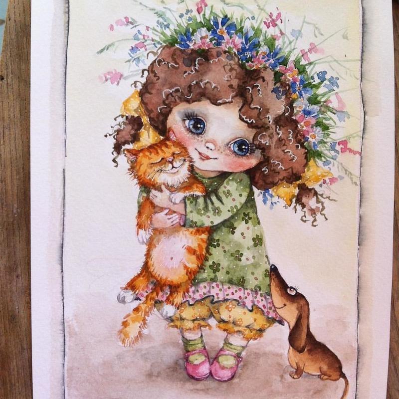 Сказки курочка, инга измайлова художник открытки
