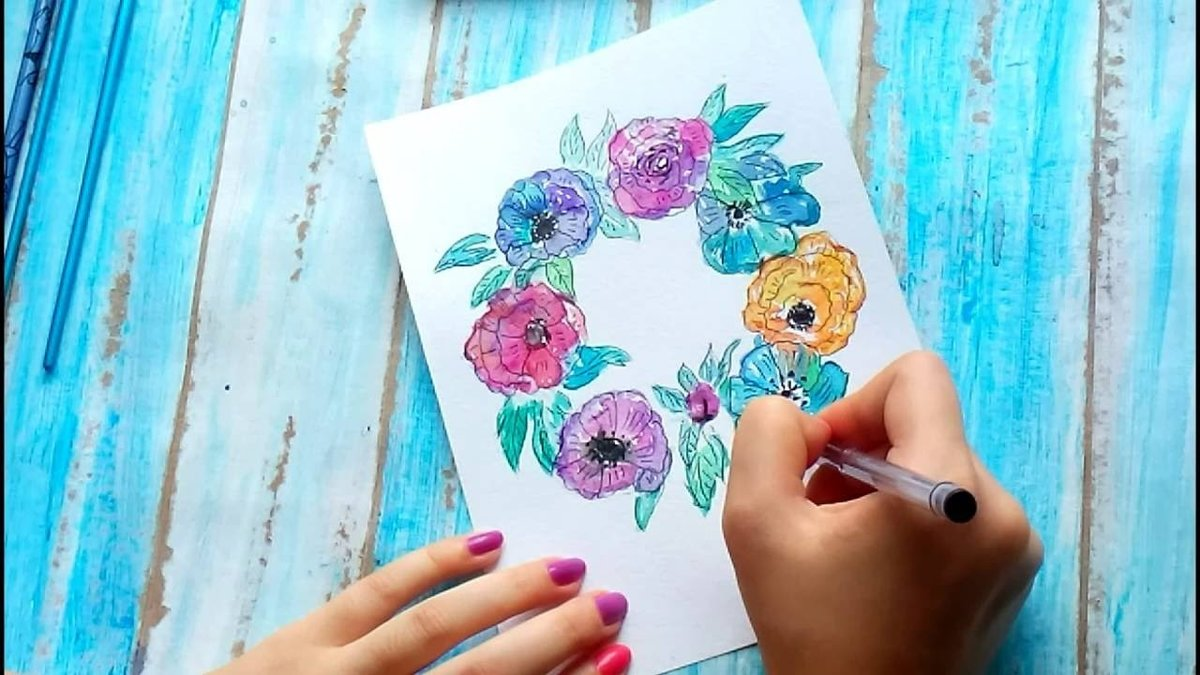 Как нарисовать красиво открытку своими руками