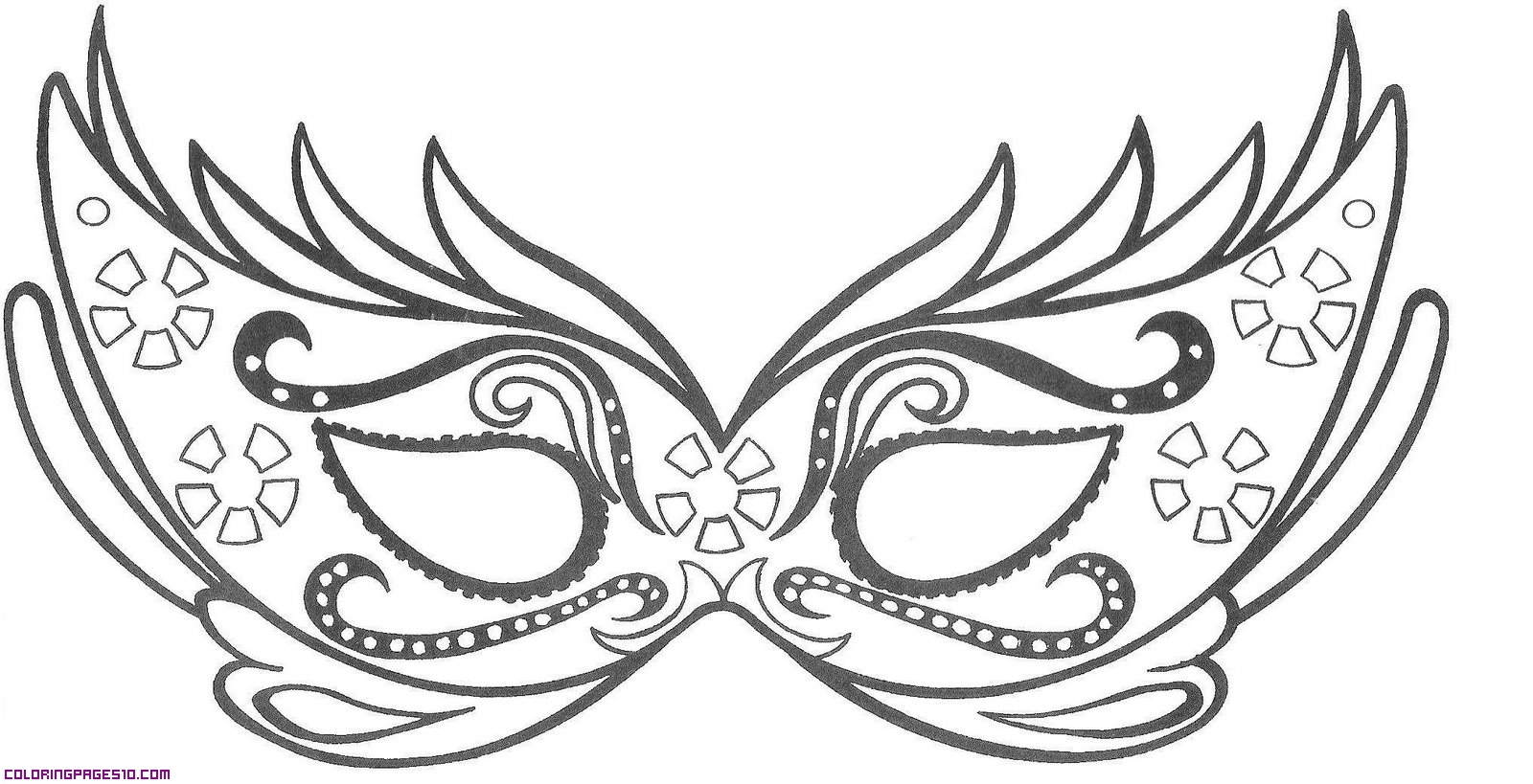 mask coloring pages Mask Coloring Pages MASKS Pages Butterfly Mask   vitlt.com