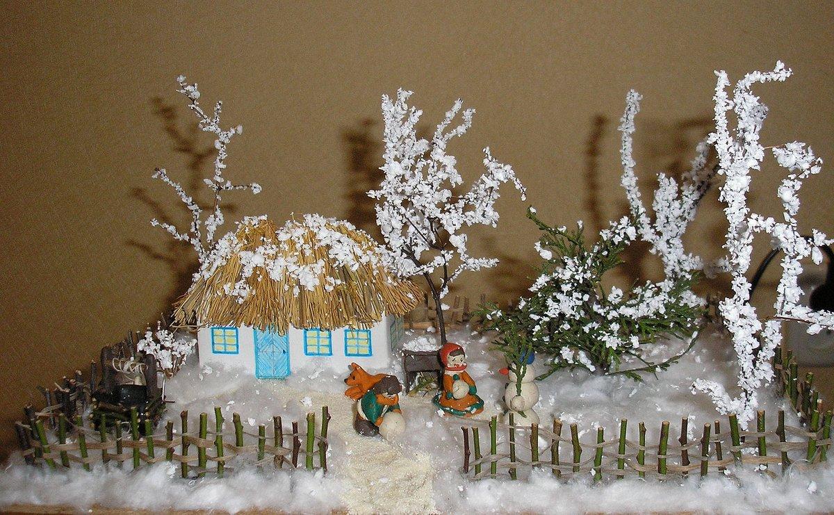 Поделки красивые зимние