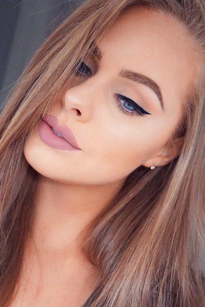 фото макияжа на каждый день небольшими пышностями